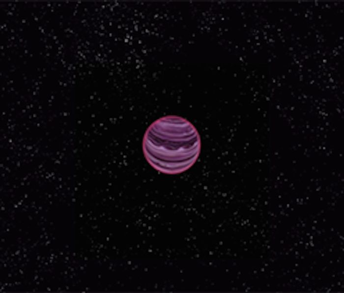 An artist's conception of PSO J318.5-22, the first rogue planet ever seen by astronomers