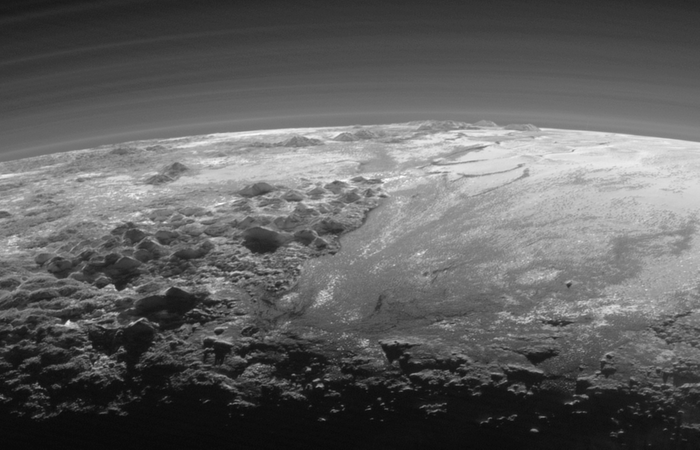 A closer look at Pluto's mountains.