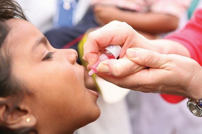 Polio still affects people.