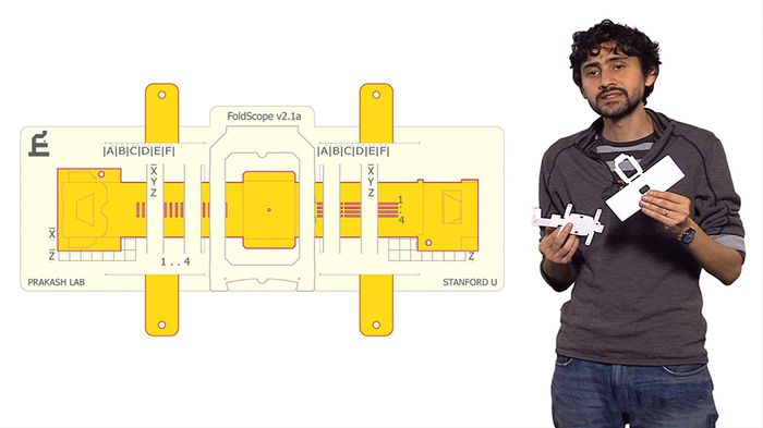 Manu Prakash, PhD, the designer of the Foldscope.