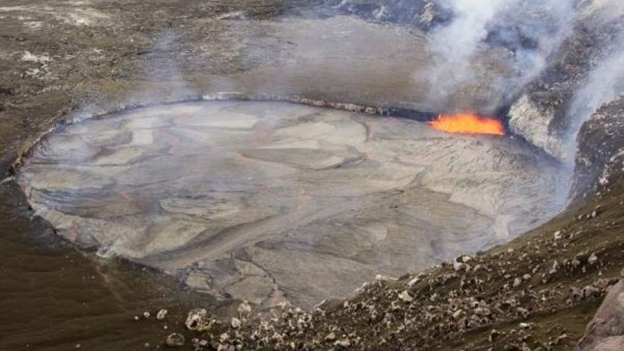 A lava lake atop Kilauea is rising