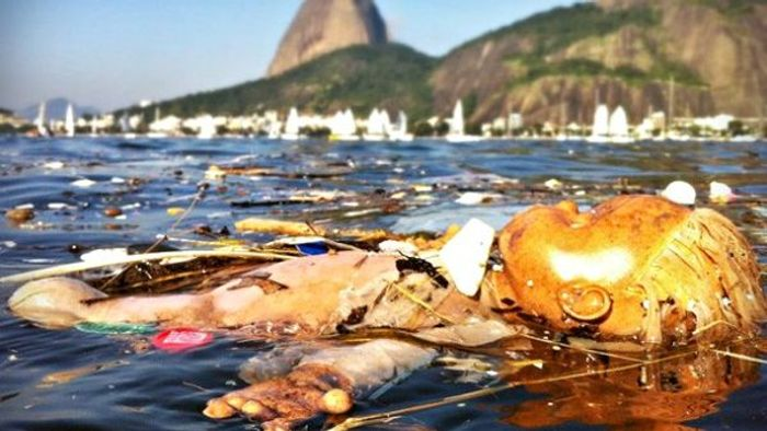 Rio's Guanabara Bay is highly polluted.