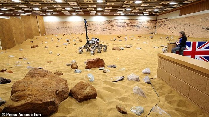 The Mars-simulated environment that Peake drove the rover through.