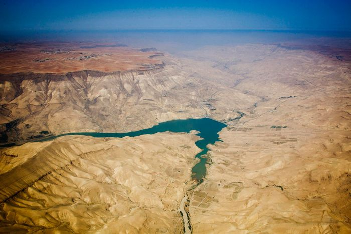 Aerial view of Jordan, between Amman and Aqaba. Photo: UN