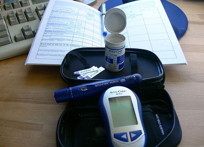 A kit used by a woman with gestational diabetes. Credit: Jessica Merz