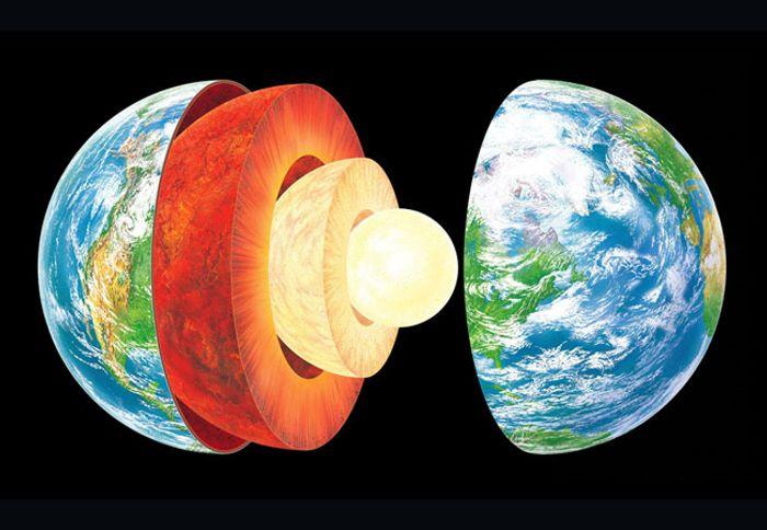 A visualization of Earth's layers. Photo: museumsvictoria.com.au