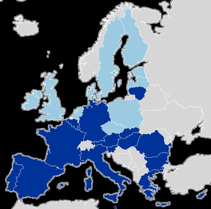 Map of EU, credit: public domain