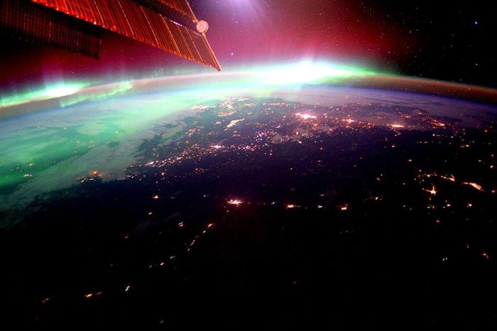 Geomagnetic storms as seen from the International Space Station.