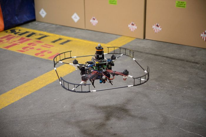 DARPA is testing autonomous drones that can avoid obstacles by themselves without human intervention while travelling at 45MPH.