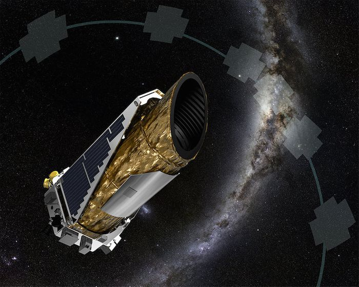 An artist's rendition depicting the Kepler Space Telescope.