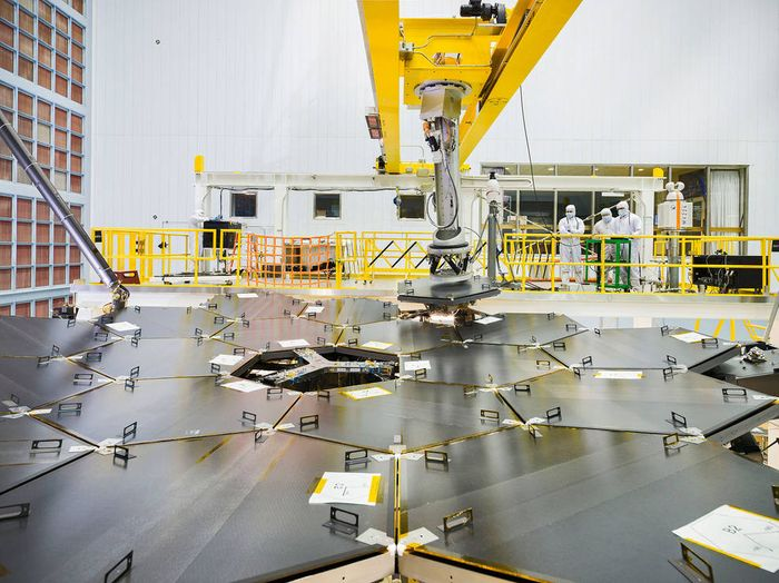 The James Webb Space Telescope's primary mirror assembly has been completed.