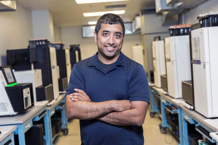 Dr. Jay Shendure in one of the genome sciences labs at UW Medicine in Seattle. Shendure is a professor of genome sciences and director of the Brotman Baty Institute for Precision Medicine in Seattle. / Credit: Scott Areman