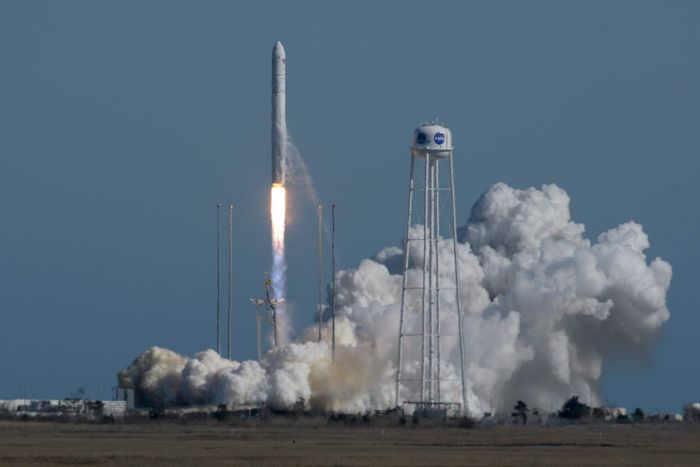 A photograph of the Antares rocket launch last week.