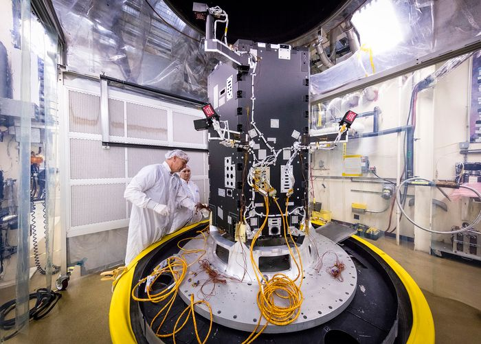 Engineers at Johns Hopkins University oversee the assembly of the new spacecraft.