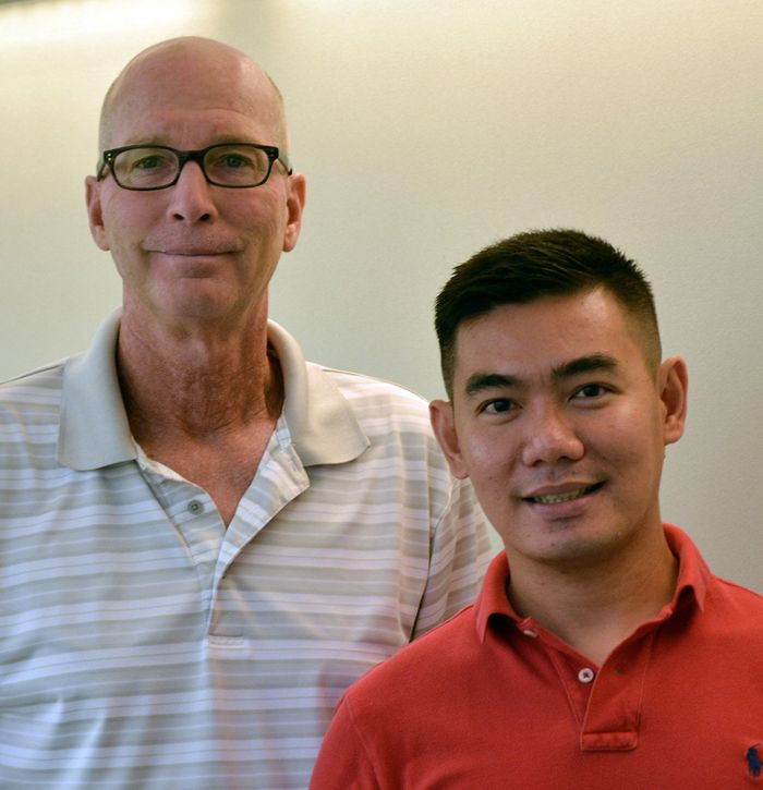 Professor Kim Janda (left) and Research Associate Major Gooyit of The Scripps Research Institute authored the new study.