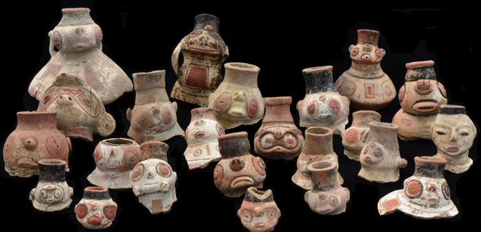These Caribbean effigy vessels belong to the Saladoid pottery type, ornate and difficult to shape. / Credit  Corinne Hofman and Menno Hoogland