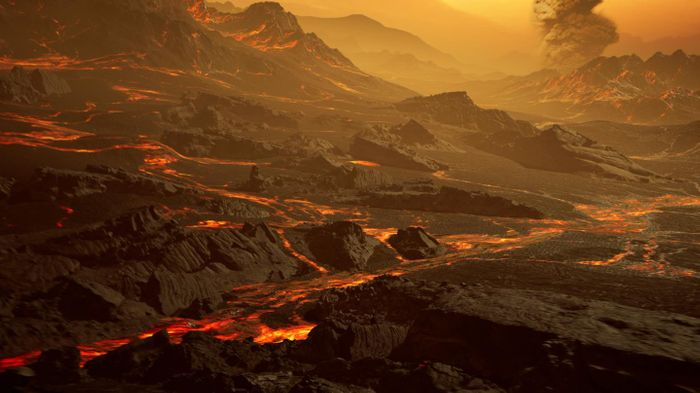 Artistic impression of the surface of the newly discovered hot super-Earth Gliese 486b.  / Credit: RenderArea, https://renderarea.com