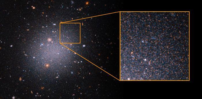 NGC1052-DF2 / Credit: NASA, ESA, Z. Shen and P. van Dokkum (Yale University), and S. Danieli (Institute for Advanced Study)