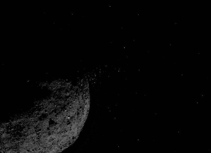 A surface image of Bennu, captured by OSIRIS-REx.
