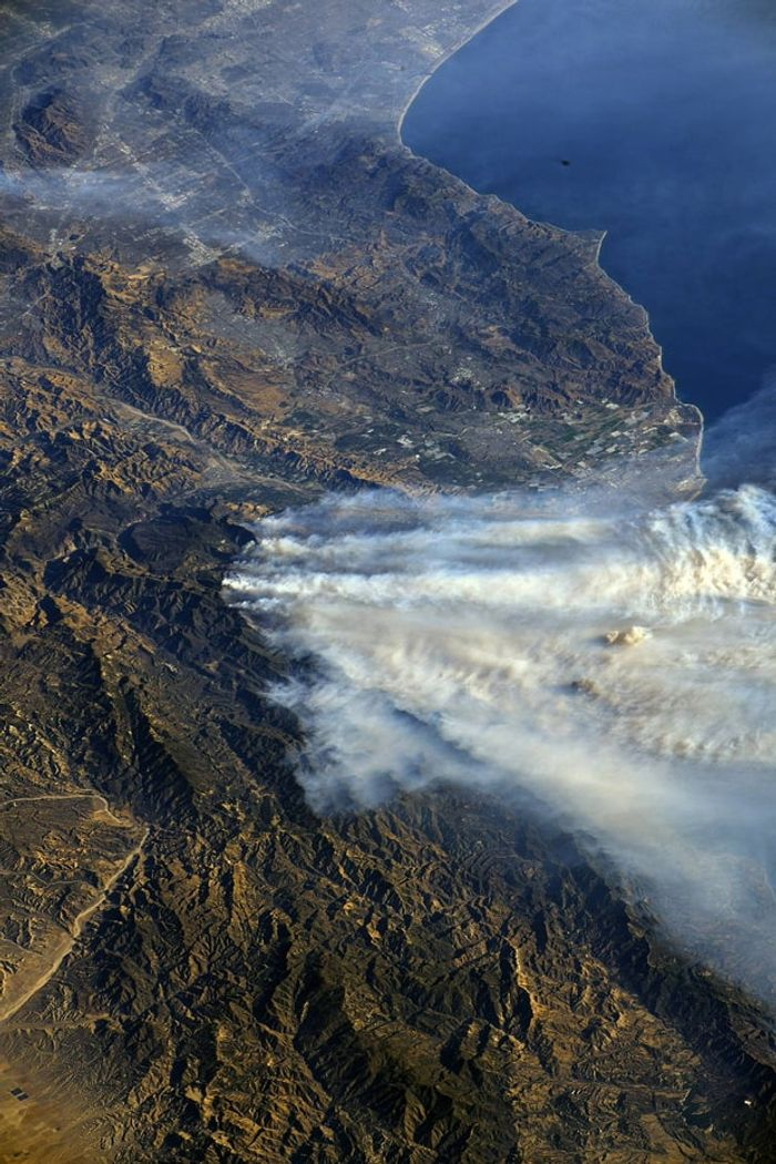 The southern California wildfires could be seen by the International Space Station crew from their vantage point in low Earth orbit. Randy Bresnik/NASA