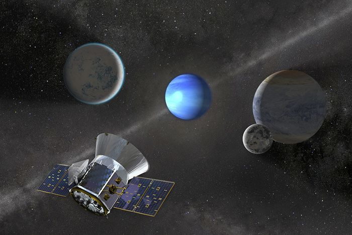 An artist's rendition of a distant world just recently discovered by NASA's TESS mission.