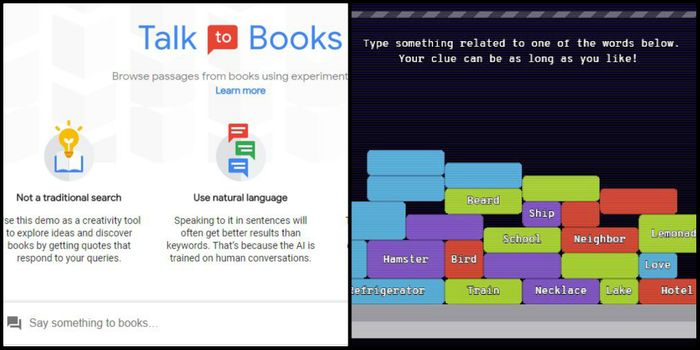 images from Google's Semantic Experiences, credit: Google