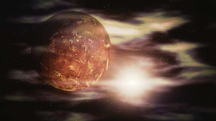 Today, Venus is so hot that liquid oceans can't exist there. On the other hand, it may not have always been that way.