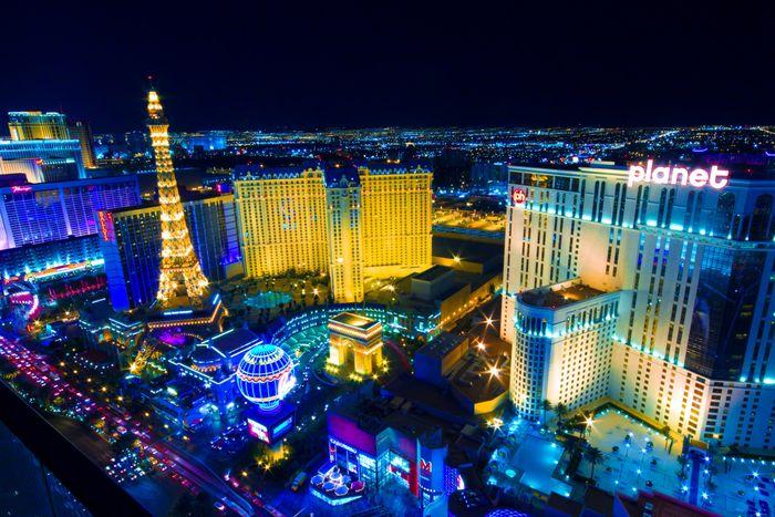 View of the Las Vegas lights. Photo: littleny/Shutterstock