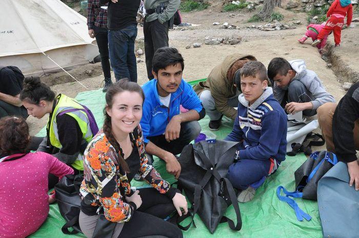 Volunteers in Lesbos. Photo: It Works