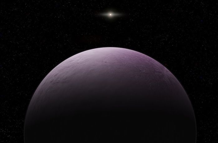 An artist's impression of Farout, the most distant object ever observed in our solar system.