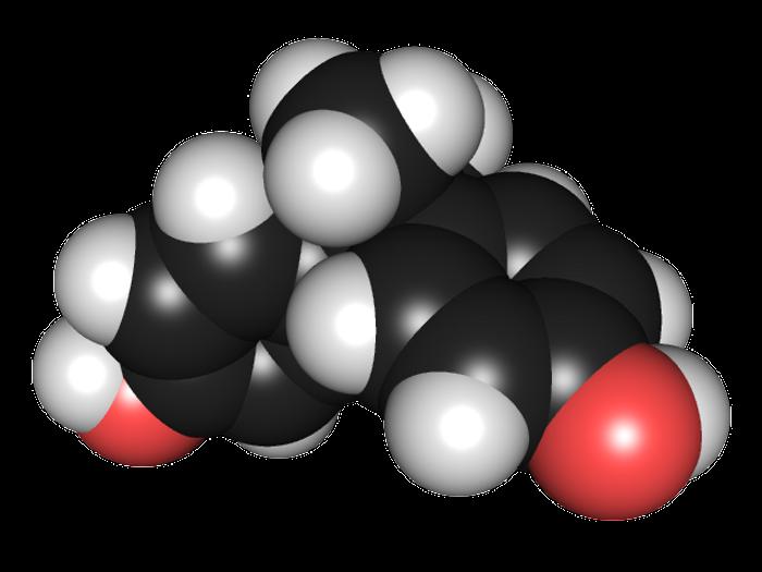 3D chemical structure of bisphenol A / Credit: Wikimedia/Edgar181