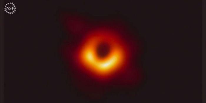 The black hole image captured via the EHT.