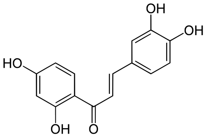 Chemical structure of butein.