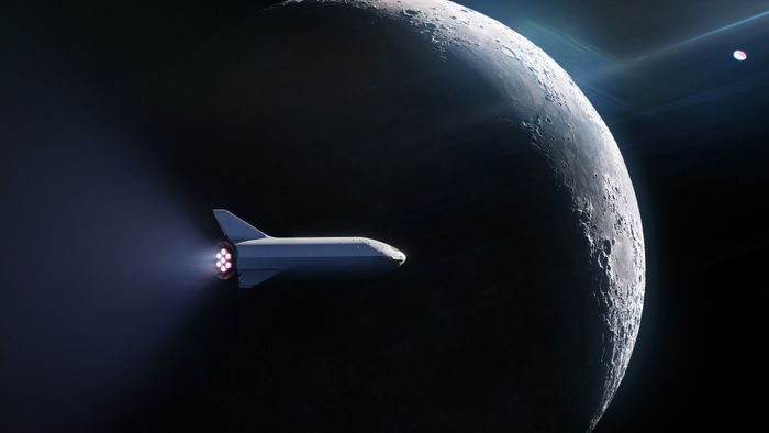 An artist's impression of a SpaceX vehicle sending a customer to space.