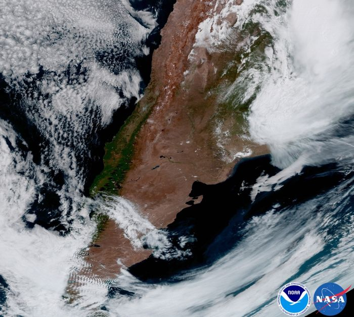 Argentina, as soon from the GOES-16 point of view.