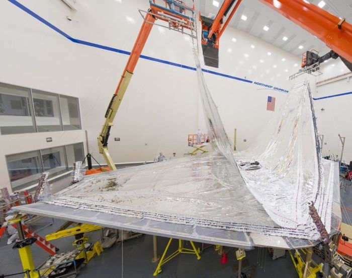 The James Webb Space Telescope's sunshield is being rolled up and tested ahead of its launch in 2018-2019.