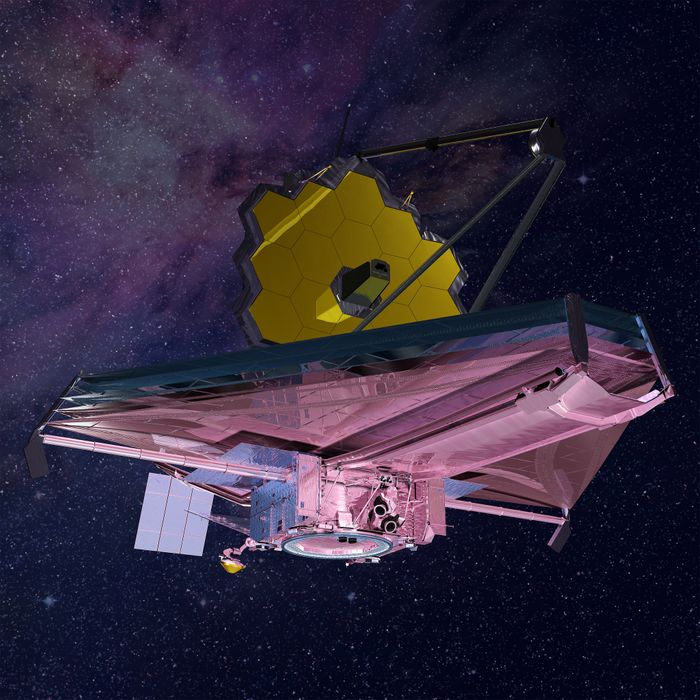 An artist's impression of the James Webb Space Telescope, set for launch in 2018.