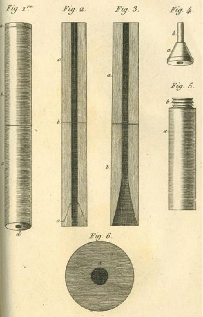 Drawing of the first stethoscope design