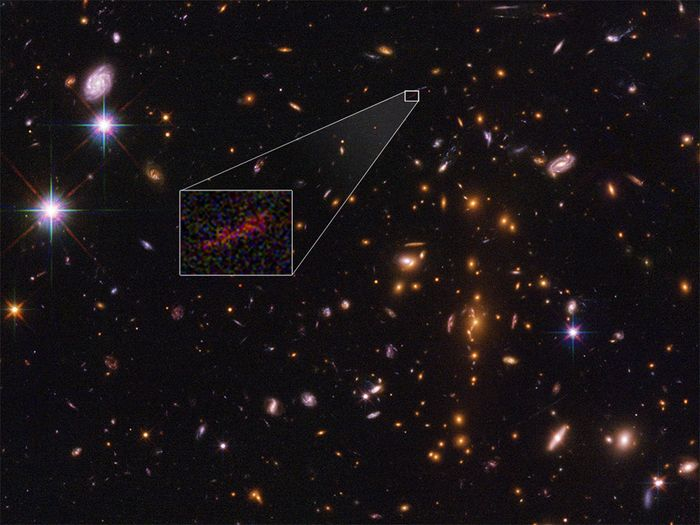 SPT0615-JD is seen in this Hubble photograph.