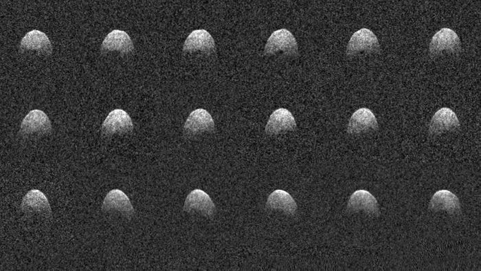 These radar images show a PHA known as 3200 Phaethon from 6.4 million miles away.
