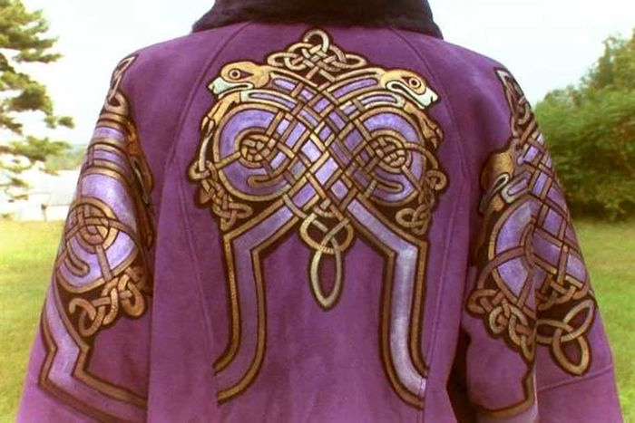 An example of Tyrian Purple as worn by royalty in Ancient Roman times.