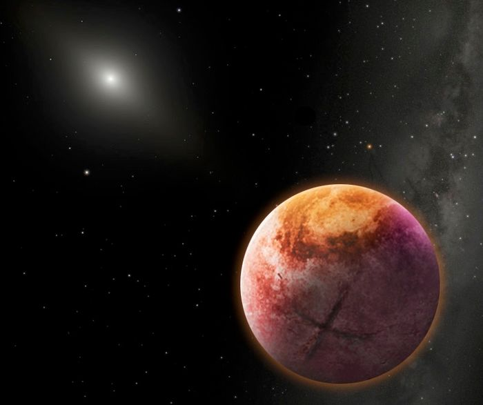 An artist's impression of a theoretical distant planet dubbed Planet X.
