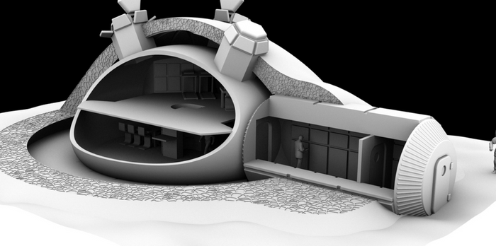 What a future Moon base might look like.