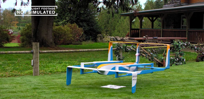 Amazon Prime Air is a future delivery service Amazon aims to offer for some online orders.