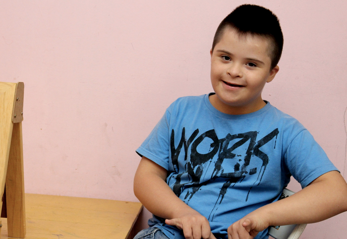 A child with Down syndrome / Image credit: Public domain pictures