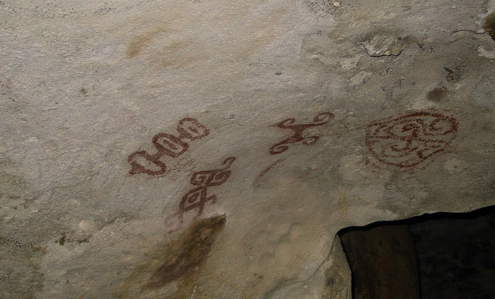 Cave paintings in Aruba / Credit: Carmen Leitch