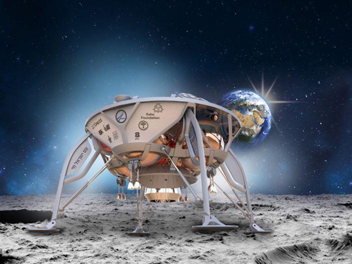 An artist's impression of SpaceIL's Lunar Lander