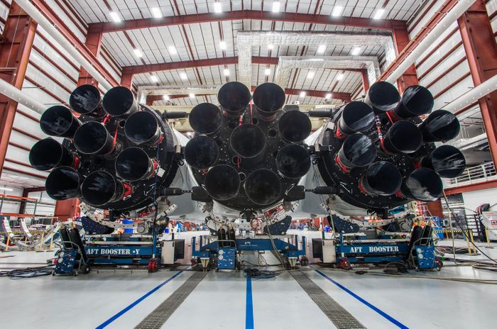 A look at the monstrously-large engines behind Falcon Heavy.