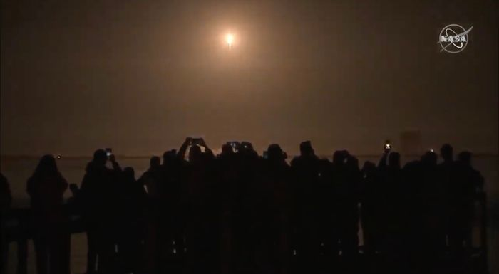 A beautiful view of the SpaceX launch site on Saturday as the rocket approached orbital altitude.