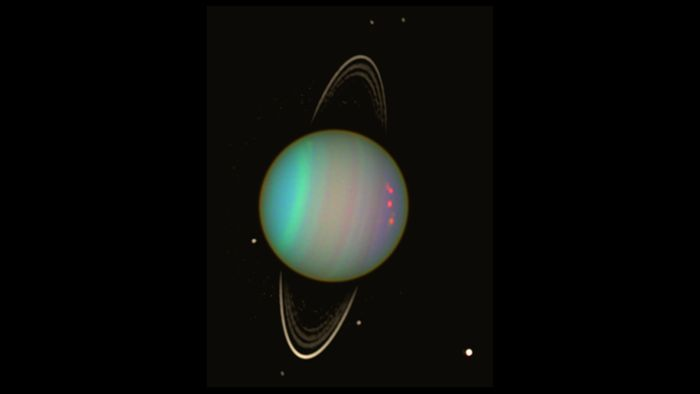 Uranus may have two hidden 'moonlets,' as data from the planet's rings reveal.